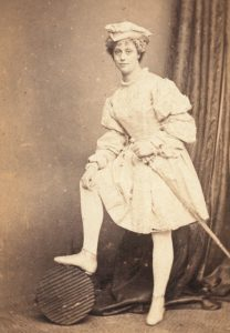 The Victorian actress Miss Leigh in 'Pretty Peculiar'